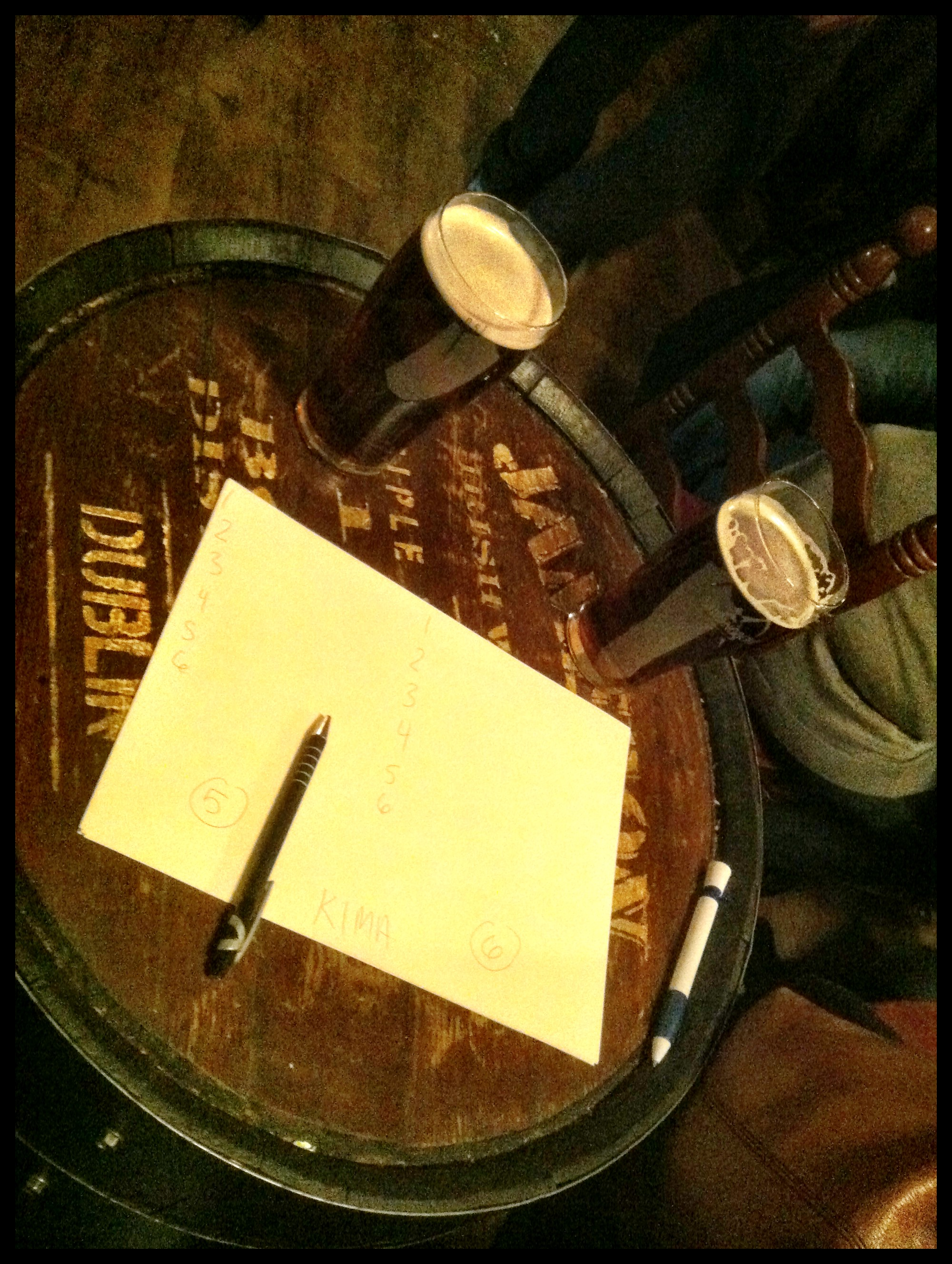 Two Pints, Two Pieces of Paper, a Barrel, and a Pen