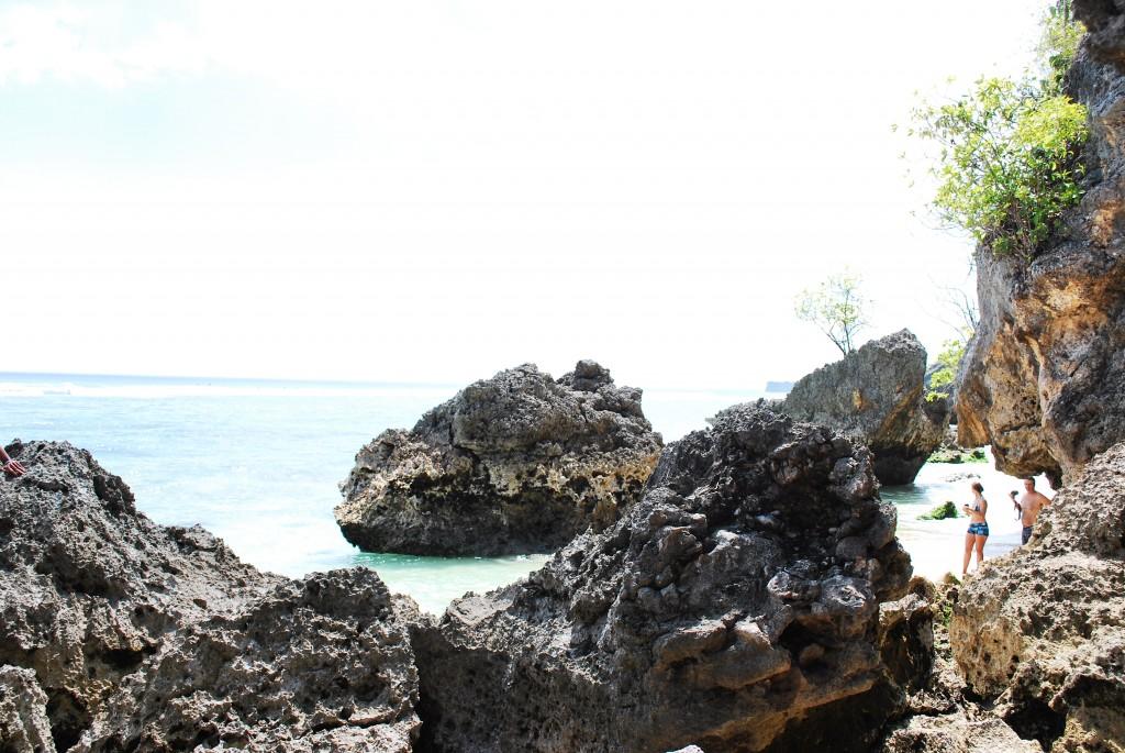 Rocks and Ocean at Padang Padang