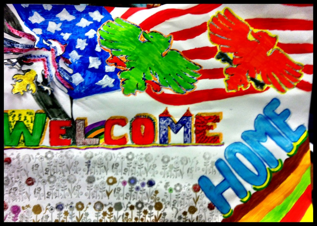Welcome Home Deployment Poster Army
