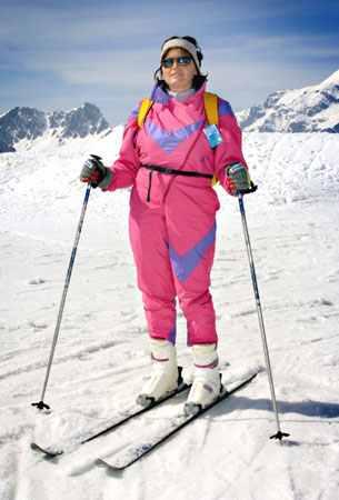 old ski style