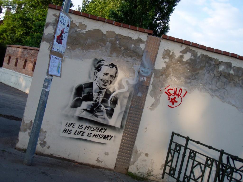 Vaclav Havel Graffiti Prague