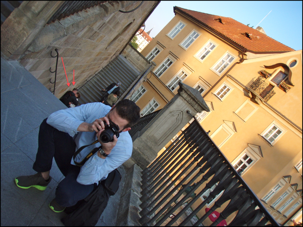 Couple Kissing in Prague