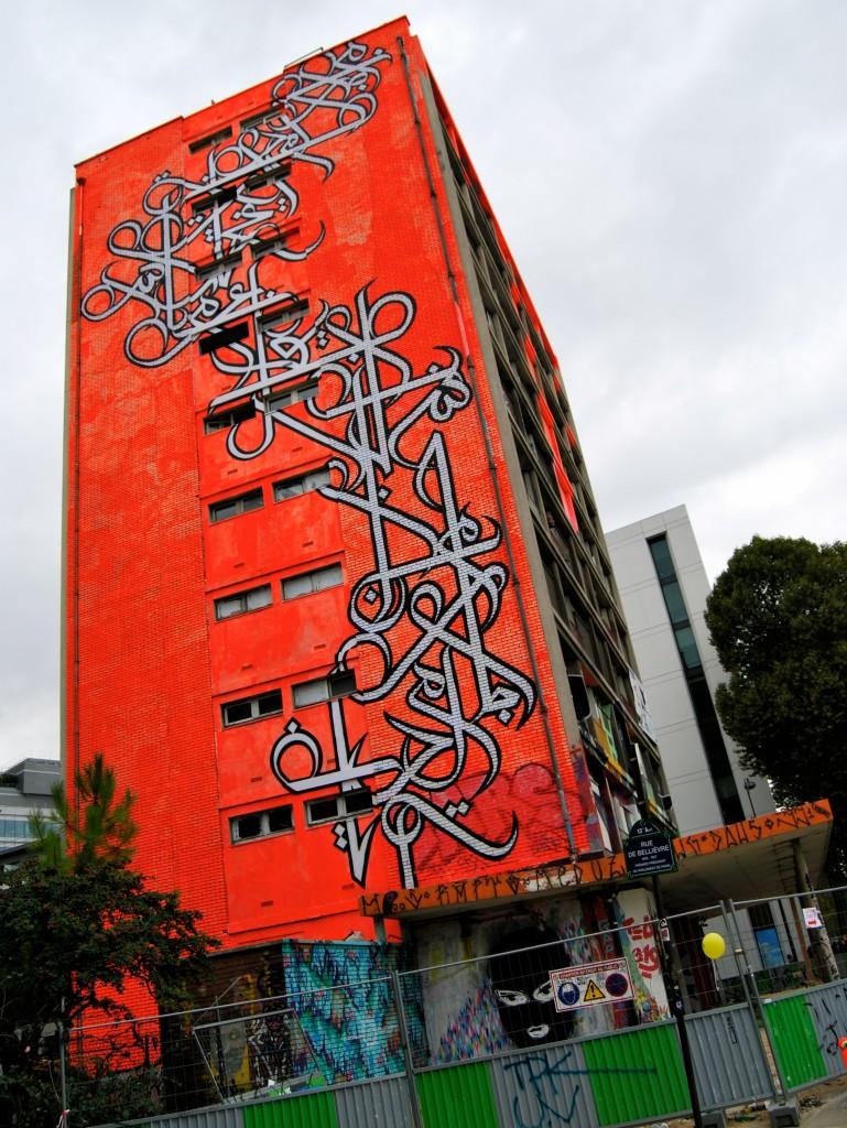 Graffiti Building Paris