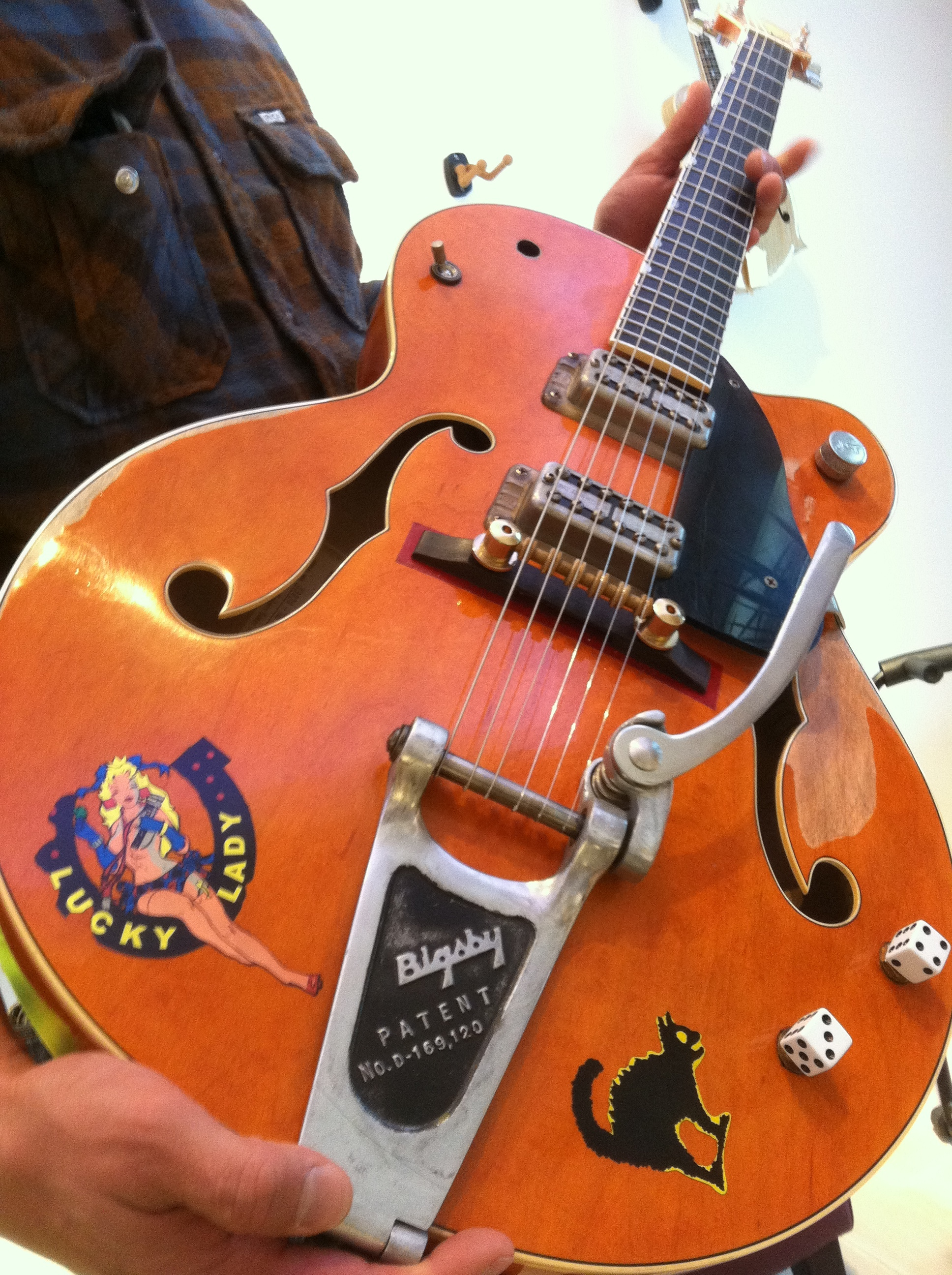 Brian setzer pin striped guitar