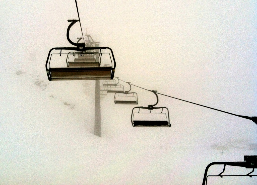 Chairlift in Fog